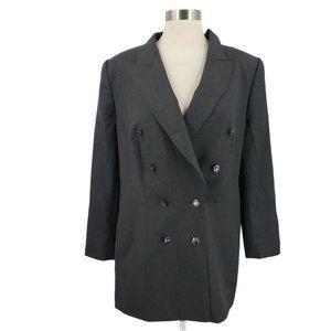 Escada Wool 8 Button Long Blazer Jacket sz 44